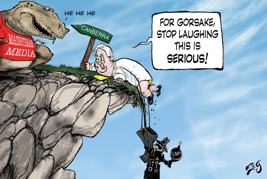 Clive Palmer Cliffhanger