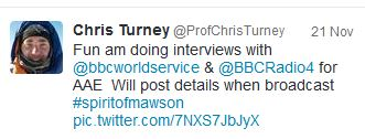 turney interviews tweet