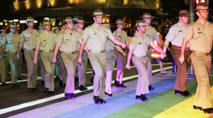 gay troops marching