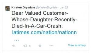drysdale LA crash tweet