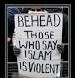 behead those who