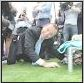 abbott on his knees