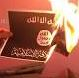 isis flag burns