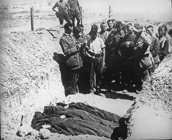 anzac burial