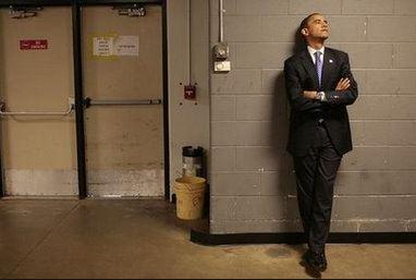 obama hallway