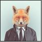 fox in a suit