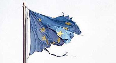 euro flag torn
