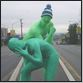 green men fight