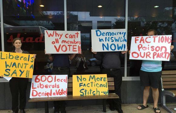 liberals protest