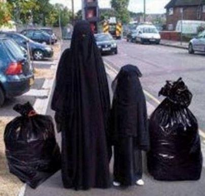 burqa garbage bags