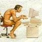 naked typist II