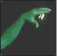 green hand snake