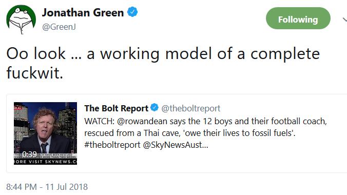 j green tweet