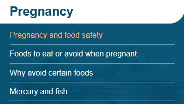 pregnancy fact sheets
