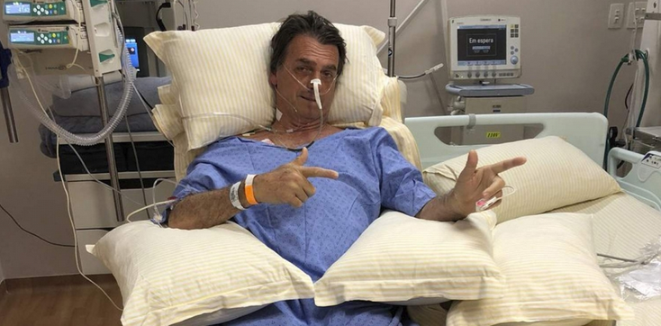 Jair Bolsonaro recovers in hospital after being stabbed by a supporter of rival candidate during the election campaign.